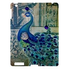 French Scripts Vintage Peacock Floral Paris Decor Apple Ipad 3/4 Hardshell Case by chicelegantboutique