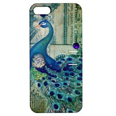 French Scripts Vintage Peacock Floral Paris Decor Apple Iphone 5 Hardshell Case With Stand by chicelegantboutique