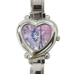 Peacock Feather White Rose Paris Eiffel Tower Heart Italian Charm Watch  by chicelegantboutique