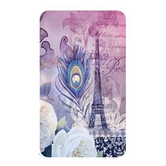 Peacock Feather White Rose Paris Eiffel Tower Memory Card Reader (rectangular) by chicelegantboutique