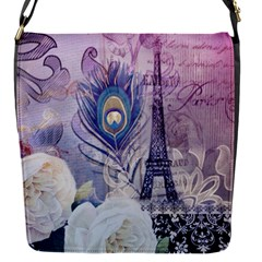 Peacock Feather White Rose Paris Eiffel Tower Removable Flap Cover (small) by chicelegantboutique