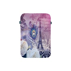 Peacock Feather White Rose Paris Eiffel Tower Apple Ipad Mini Protective Soft Case by chicelegantboutique
