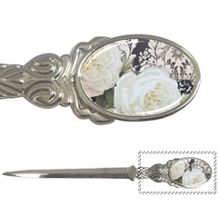 Elegant White Rose Vintage Damask Letter Opener by chicelegantboutique