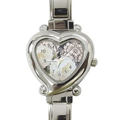 Elegant White Rose Vintage Damask Heart Italian Charm Watch  by chicelegantboutique