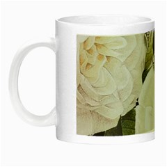 Elegant White Rose Vintage Damask Glow In The Dark Mug by chicelegantboutique