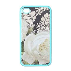 Elegant White Rose Vintage Damask Apple Iphone 4 Case (color) by chicelegantboutique