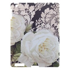 Elegant White Rose Vintage Damask Apple Ipad 3/4 Hardshell Case by chicelegantboutique
