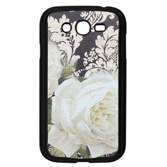 Elegant White Rose Vintage Damask Samsung I9082(galaxy Grand Duos)(black) by chicelegantboutique