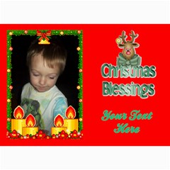 Holiday Card #7, 5x7 By Joy Johns   5  X 7  Photo Cards   Inas7jlpxs5q   Www Artscow Com 7 x5 Photo Card - 4