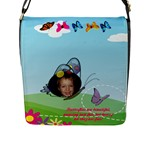 Butterfly Flap Closure Messenger Bag - Flap Closure Messenger Bag (L)