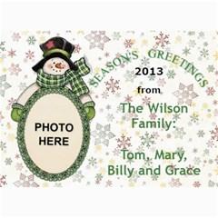 Holiday Greetings 5x7 Photo Card By Joy Johns   5  X 7  Photo Cards   Wrj6lfctbp69   Www Artscow Com 7 x5 Photo Card - 2