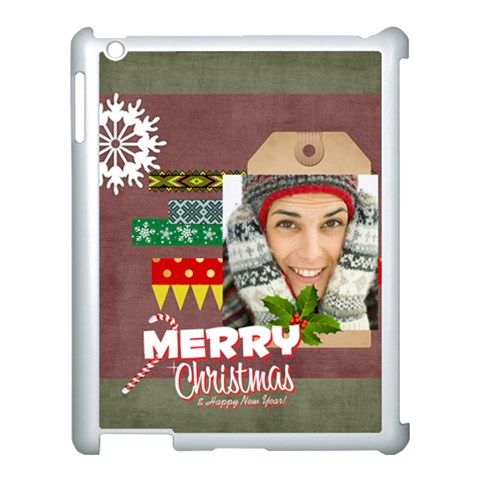 Merry Christmas By Merry Christmas   Apple Ipad 3/4 Case (white)   Rmi4efzp6lue   Www Artscow Com Front