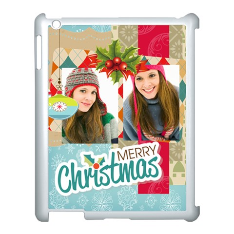 Merry Christmas By Merry Christmas   Apple Ipad 3/4 Case (white)   Qs5u6m7y9xrm   Www Artscow Com Front