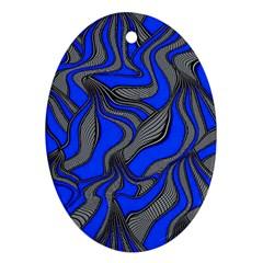Foolish Movements Blue Oval Ornament by ImpressiveMoments