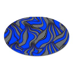 Foolish Movements Blue Magnet (Oval) by ImpressiveMoments