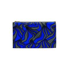 Foolish Movements Blue Cosmetic Bag (small)