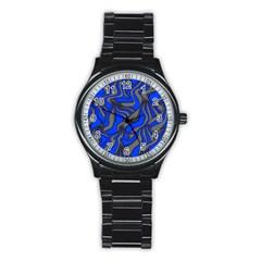 Foolish Movements Blue Sport Metal Watch (black)