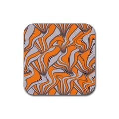 Foolish Movements Swirl Orange Drink Coaster (square) by ImpressiveMoments