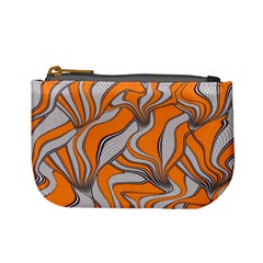 Foolish Movements Swirl Orange Coin Change Purse by ImpressiveMoments