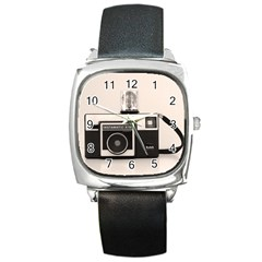 Kodak (3)s Square Leather Watch by KellyHazel