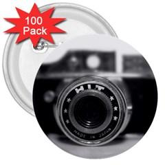 Hit Camera (2) 3  Button (100 Pack) by KellyHazel