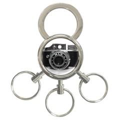 Hit Camera (3) 3 Ring Key Chain by KellyHazel