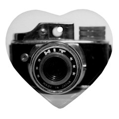 Hit Camera (3) Heart Ornament (two Sides) by KellyHazel