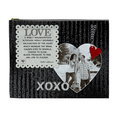 Xoxo Love Xl Cosmetic Bag By Lil    Cosmetic Bag (xl)   Sudlo2xkjk8u   Www Artscow Com Front