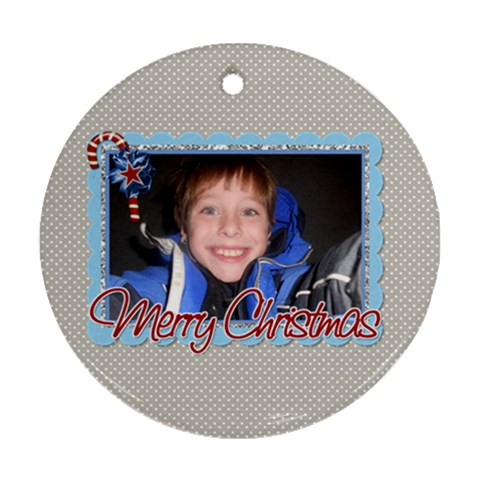 Round Ornament By Martha Meier   Ornament (round)   38v2ve5n7ver   Www Artscow Com Front