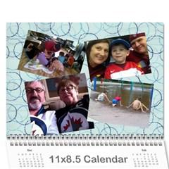 Christmas Gift Mom And Dad 2013 By Heather   Wall Calendar 11  X 8 5  (12 Months)   Ytyevzkqruqb   Www Artscow Com Cover