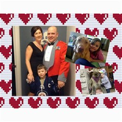 Christmas Gift Mom And Dad 2013 By Heather   Wall Calendar 11  X 8 5  (12 Months)   Ytyevzkqruqb   Www Artscow Com Month