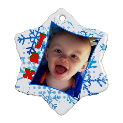 Jax By Dannielle   Ornament (snowflake)   99sxxeihqvah   Www Artscow Com Front