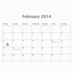 Eddie By Katy   Wall Calendar 11  X 8 5  (12 Months)   8e8j2la2pzbn   Www Artscow Com Feb 2014