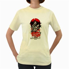 Zombie destruction Night  Womens  T-shirt (Yellow) by Contest1741083