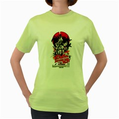 Zombie destruction Night Womens  T-shirt (Green) by Contest1741083