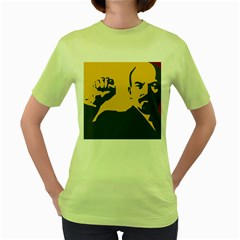 Power With Lenin Womens  T Shirt (green) by youshidesign