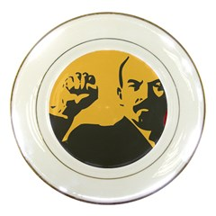 Power With Lenin Porcelain Display Plate by youshidesign