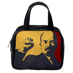 POWER WITH LENIN Classic Handbag (One Side) by youshidesign