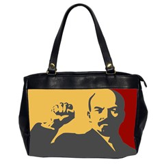 Power With Lenin Oversize Office Handbag (two Sides) by youshidesign