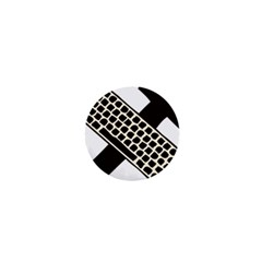 Hammer And Keyboard  1  Mini Button by youshidesign