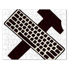 Hammer And Keyboard  Jigsaw Puzzle (rectangle) by youshidesign