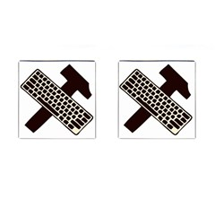 Hammer And Keyboard  Cufflinks (square) by youshidesign