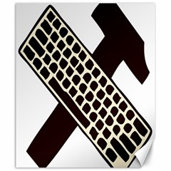 Hammer And Keyboard  Canvas 20  X 24  (unframed) by youshidesign