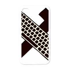 Hammer And Keyboard  Apple Iphone 4 Case (white) by youshidesign