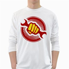 power to the people Mens' Long Sleeve T-shirt (White) by youshidesign