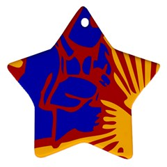 Soviet Robot Worker  Star Ornament (two Sides) by youshidesign