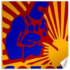 Soviet Robot Worker  Canvas 16  X 16  (unframed) by youshidesign