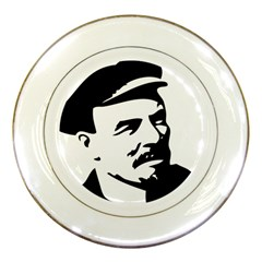 Lenin Portret Porcelain Display Plate by youshidesign