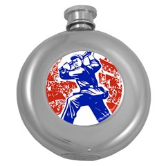 Communist Party Of China Hip Flask (Round) by youshidesign