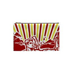 Octobe Revolution Cosmetic Bag (small) by youshidesign